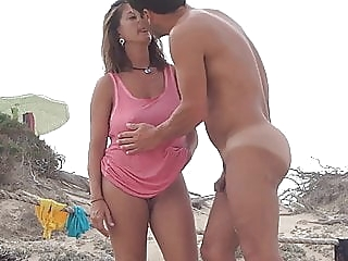 Gorgeous Milf on the beach with boyfriend amateur beach milf