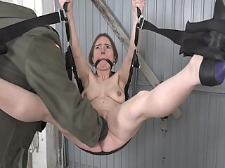Submissive German slut gets fisted amateur bdsm female orgasm