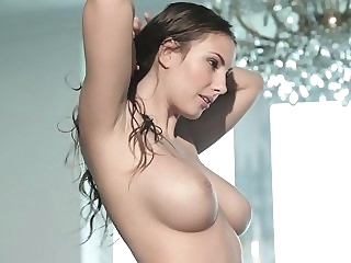 Babe with big natural tits in action big tits brunette milf