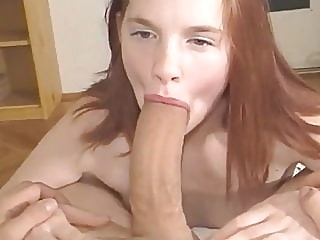 Innocent Teen Didn't Expect Her First Cock Will Be So HUGE amateur blowjob cumshot