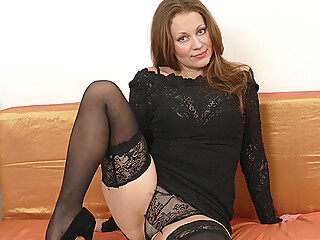 This Hot Housewife Loves To Play Alone - MatureNL dutch european lingerie