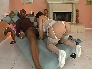 Latin Maid Bbc big ass big cock brunette