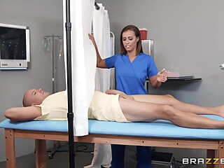 A Young Busty Nurse Goes For A Ride On A Patients Big Cock big cock brunette fetish